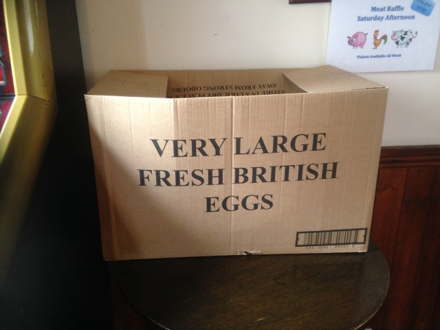 Very large fresh British eggs