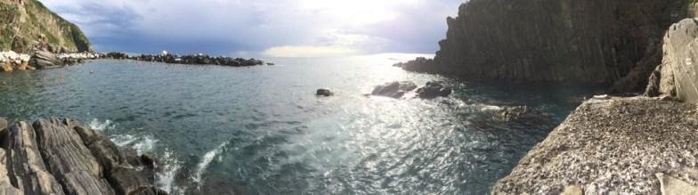 The harbour of Riomaggiore,Riomaggiore, Cinque Terre.