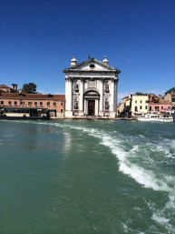 Buildings open out onto the sea, Venezia.