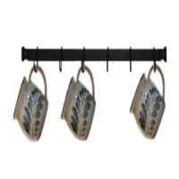 Wrought Iron Mug Rack | Wall-Mounted | 24 inches with 6 ...