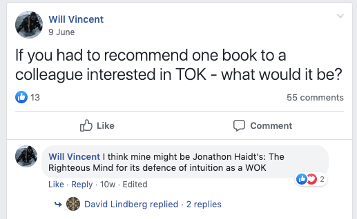 What books do TOK teachers recommend?