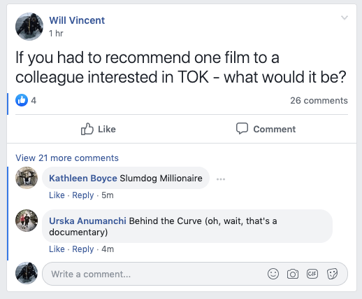 What films do TOK teachers recommend?