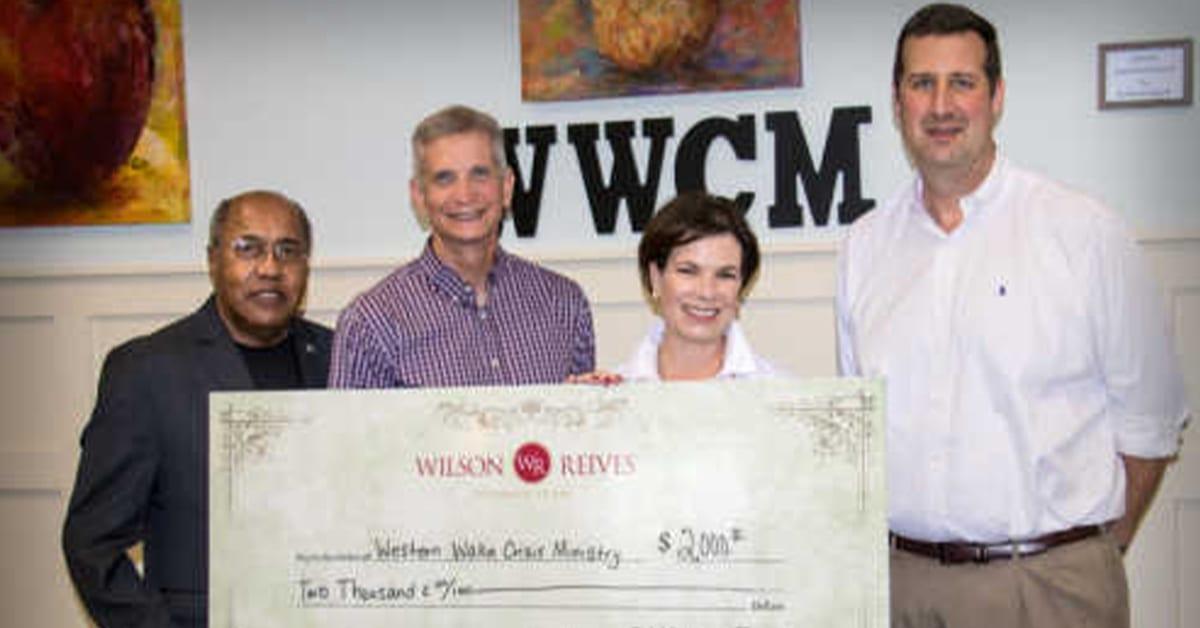 Donates $2,000 To Western Wake Crisis Ministries