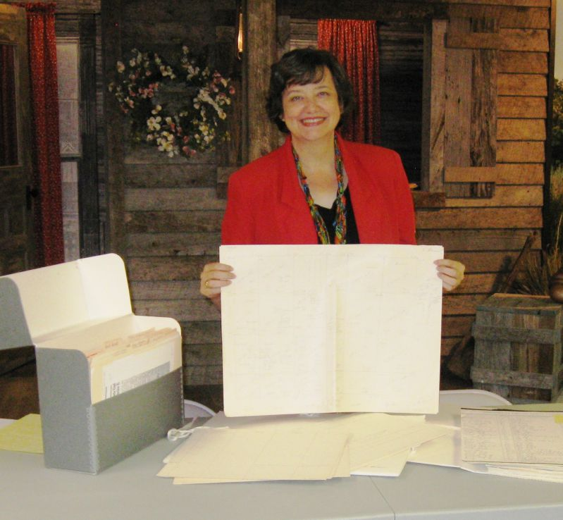 Leslie Wyman displays Morrow Collection