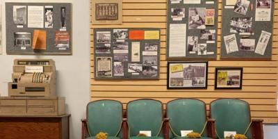 The Jim Owen display wall at the Branson Centennial Museum