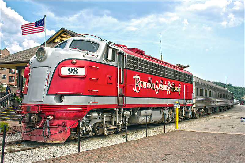 Branson Scenic Railway EMD F9PH engine