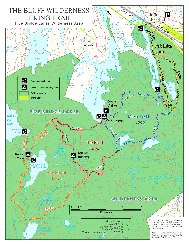 Maps, GPX – The Bluff Trail