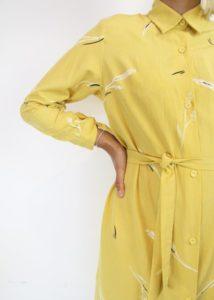 Yellow Sill Dress