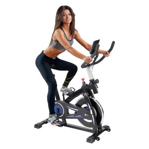 Indoor Cycling Exercise Bike with 4-Way Cushion Adjustable Handle Seat Home Fitness Stationary Aerobic Portable Spinning Bike