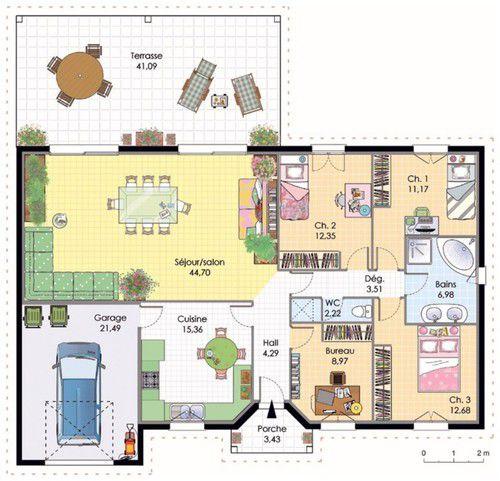Plans Maison Maison Contemporaine A