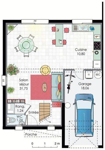 Plan de maison  Maison double  Faire construire sa maison