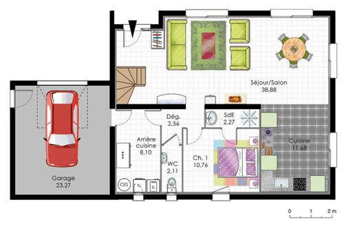 Plan de maison  Maison moderne de quatre chambres  Faire construire sa maison