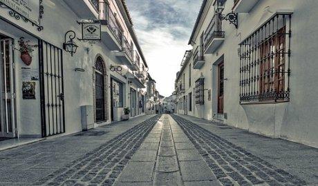 Una calle de un pueblo andaluz