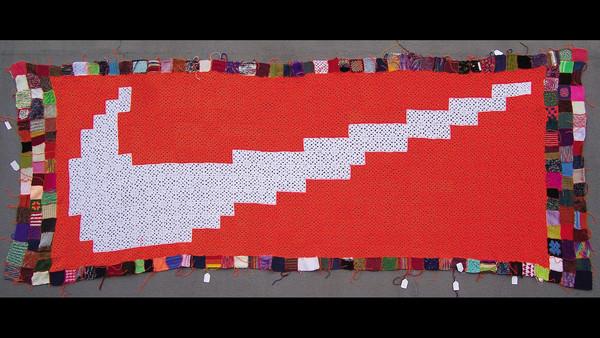 Cat Mazza's Nike banner