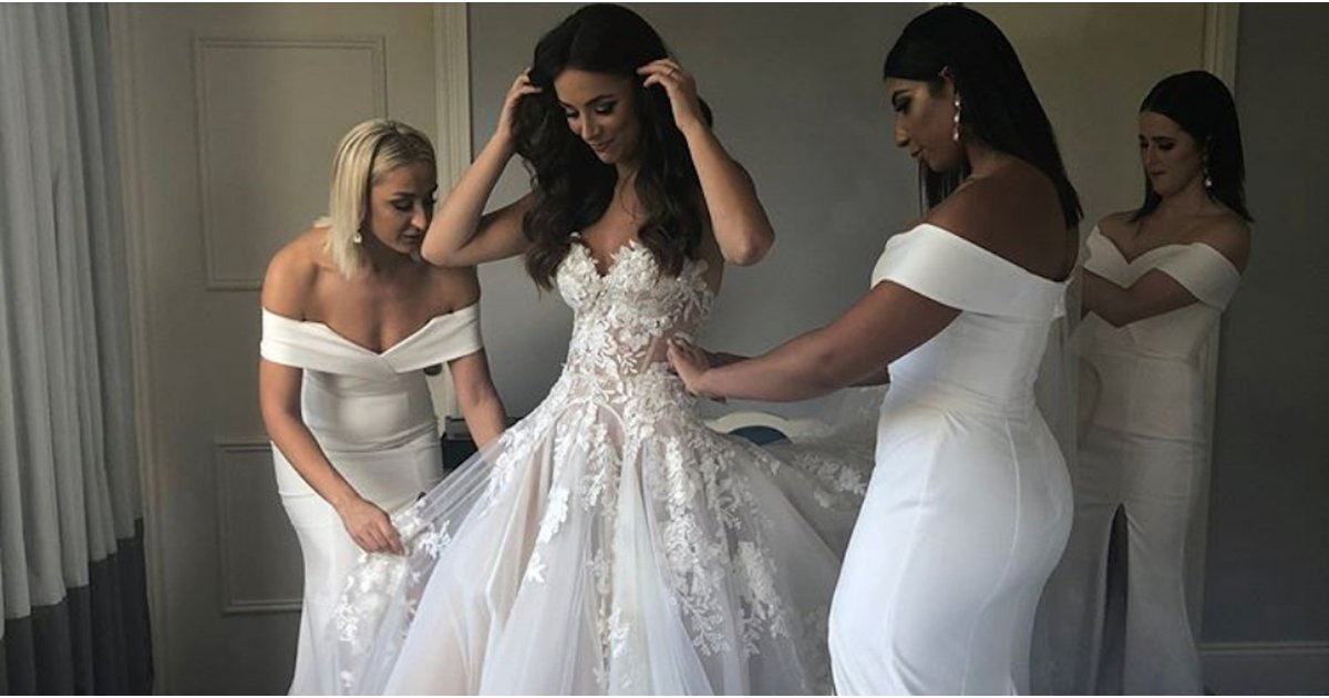 Miss Universe Australia's Wedding Dress Had Thousands Of