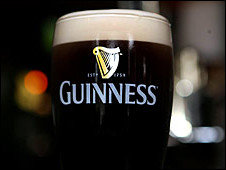 Produk Guinness beredar di Inggris dan banyak negara lain