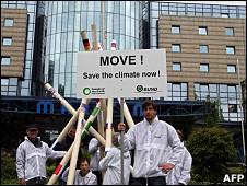 Protestas por la reunión sobre clima