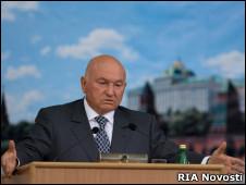 Юрий Лужков 14 сентября 2010 года