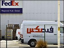 Depósito de Fedex en aeropuerto de Dubai