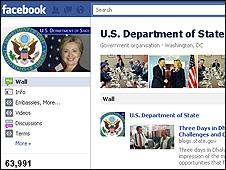 Página en Facebook del Departamento de Estado de EE.UU.