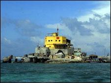 Đảo Đá Nam, một đảo do Việt Nam nắm giữ tại Trường Sa