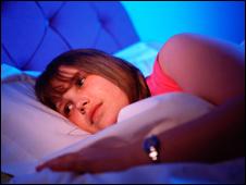Chica con problemas de sueño