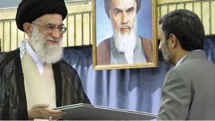 Alí Jamenei y Mahmood Ahmadinejad. Foto: oficina del ayatola Jamenei