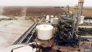 Usina de etanol nos EUA (BBC)