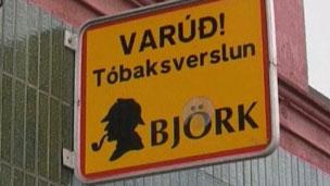 Única tabacaria da Islândia