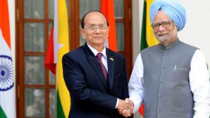 Chủ tịch Thein Sein hội kiến Thủ tướng Manmohan Singh