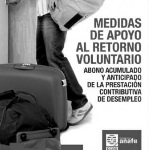 Cartaz promove retorno voluntário de imigrantes (Foto: Divulgação)