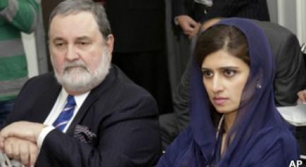 السفير الباكستاني لدى الأمم المتحدة ووزيرة الخارجية الباكستانية