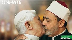 Beso del Papa y el imán de El Cairo.