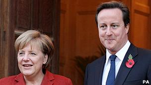 Merkel y Cameron