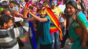 Parada gay em Nova Délhi