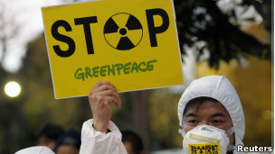 Protestas por accidente nuclear