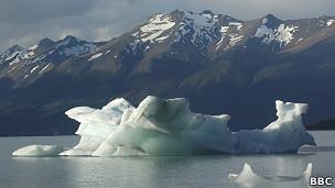 Glaciar en la Patagonia argentina