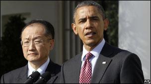 Jim Yong Kim và Tổng thống Obama