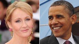 Barack Obama y JK Rowling