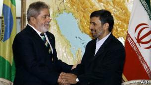Lula e Ahmadinejad. Foto: Ricardo Stuckert / PR