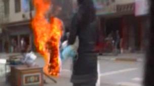 Một vụ tự thiêu của người Tây Tạng