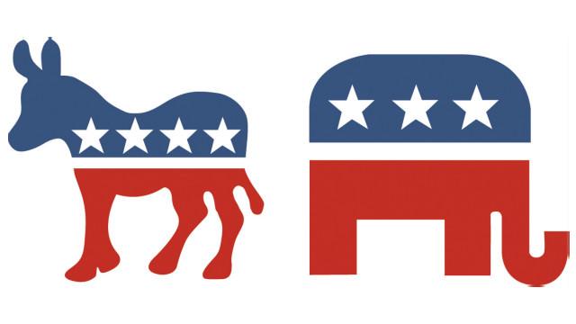 Biểu tượng của đảng Dân chủ và Cộng hòa