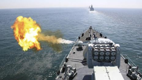Nga - Trung tập trận hải quân tháng 4/2012