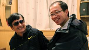 Ông Trần (trái) và người bạn thân Hồ Giai