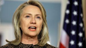 Ngoại trưởng Hillary Clinton tại trụ sở Bộ ngoại giao Mỹ
