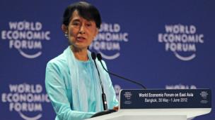 Bà Suu Kyi phát biểu tại Diễn đàn kinh tế thế giới tại Bangkok