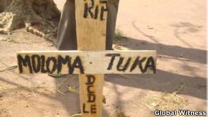 Túmulo de Frederic Moloma Tuka (Foto: Global Witness)