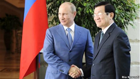 Chủ tịch Trương Tấn Sang và Tổng thống Vladimir Putin