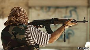 Combatiente en Siria