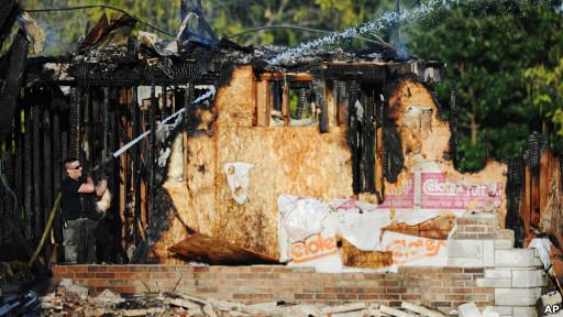 Masjid yang terbakar di Joplin, Amerika Serikat